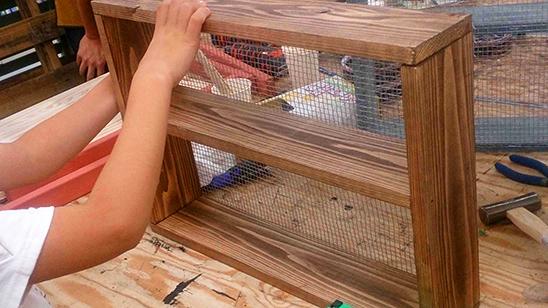 木製飾り棚を作ってみました!〈小松家〉