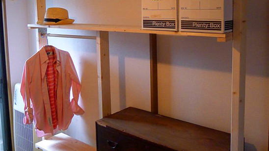 ディアウォールで寝室の収納が改善!〈小松家〉