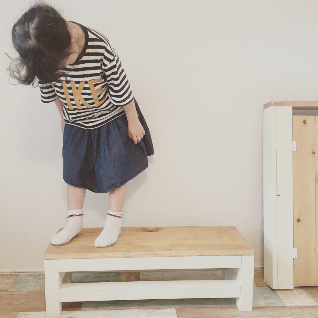 キッズベンチ兼お手伝い用踏み台を作ってみた!