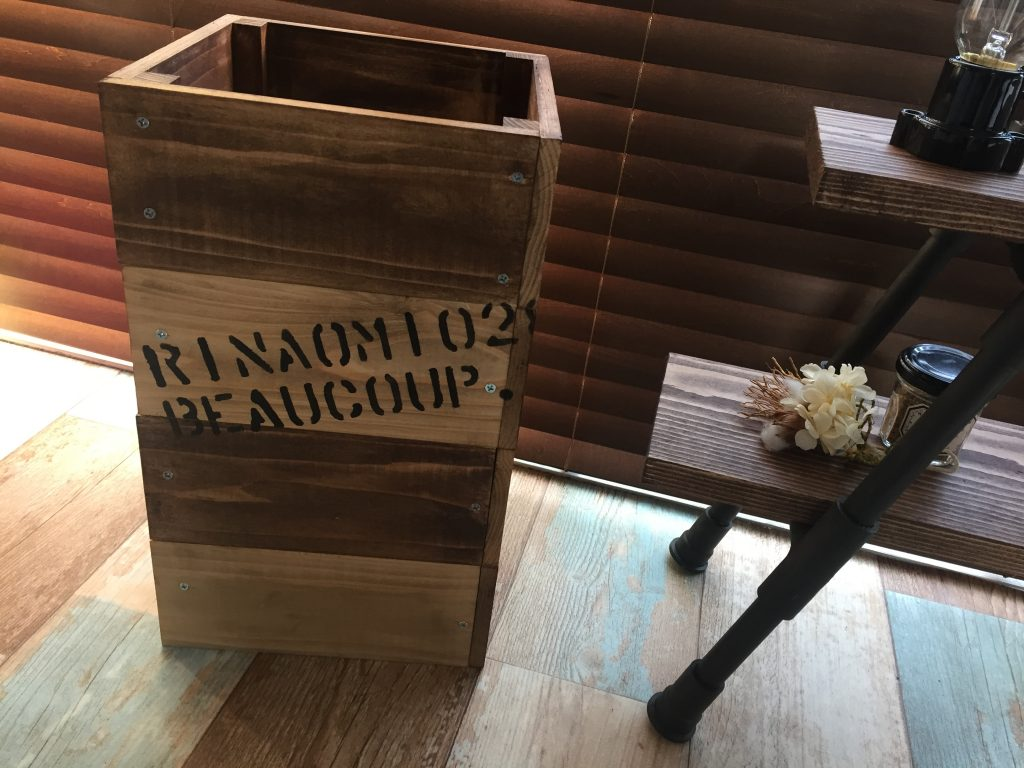 木製ゴミ箱作りにチャレンジ!