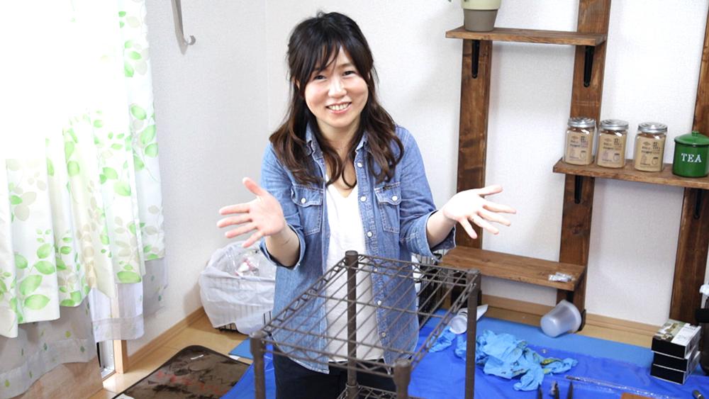 キッチンDIY③キッチンワゴンをアイアンペイントでリメイク!〈武田家〉