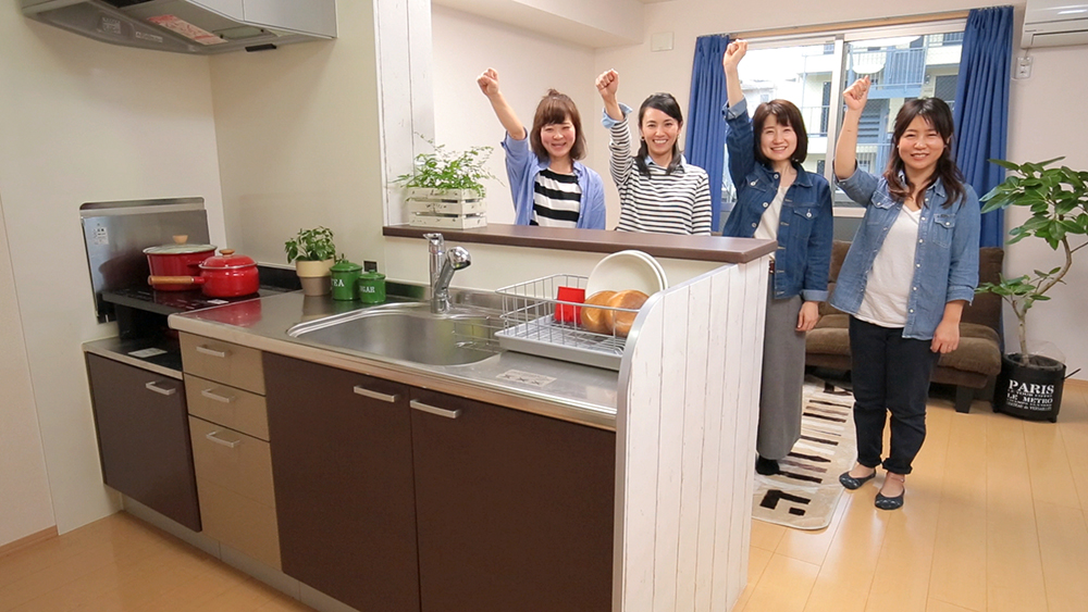 [テレビCM]マスキングテープでキッチンをリメイク!編〈武田家〉