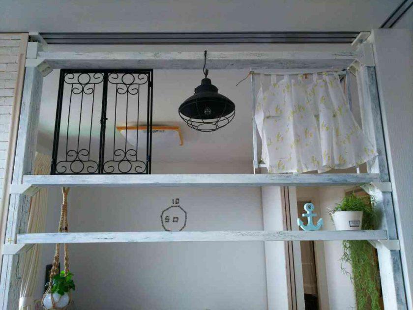 子供部屋大改造⑤DIYで作った仕切りを、窓枠などで装飾!〈坂本家〉