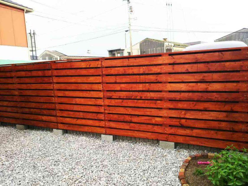 お庭をDIY②ガーデンフェンスを作りました。〈坂本家〉