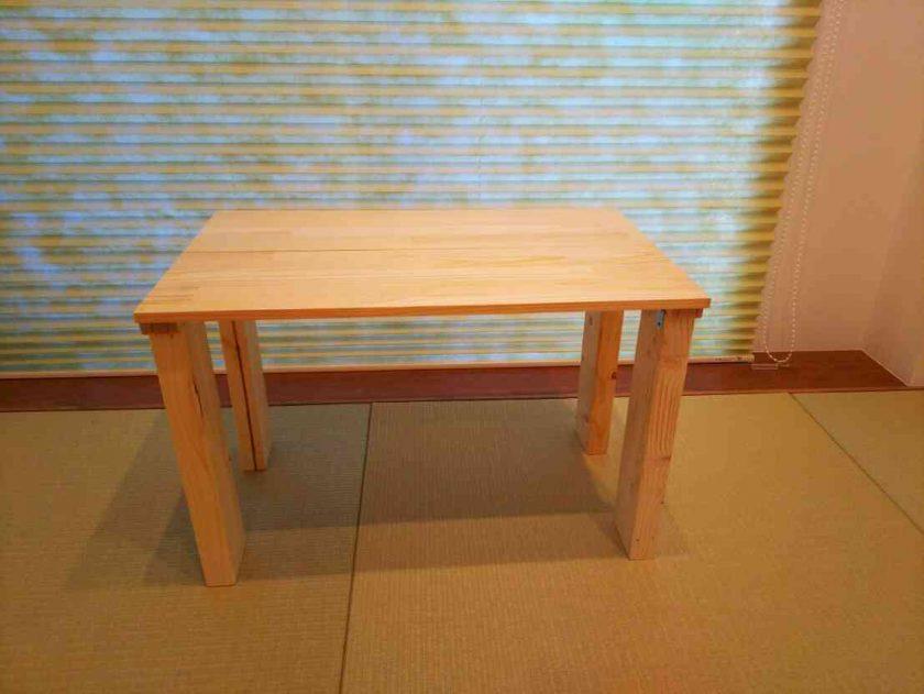 余った木材で、ナチュラルテイストのローテーブル作り〈坂本家〉