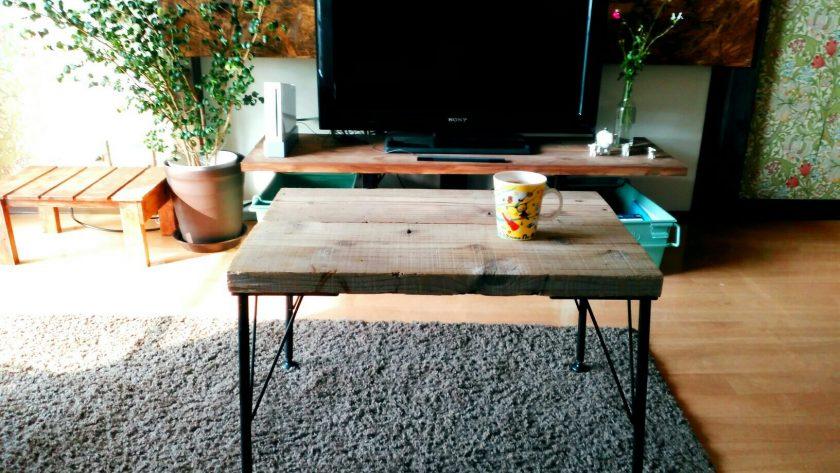 リビング変身④簡単すぎてびっくり!アイアン脚でリビング用ミニテーブル作り!〈西森家〉