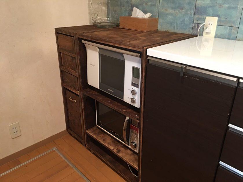 キッチン大改造③キャビネット(大)を作りました!〈小野家〉