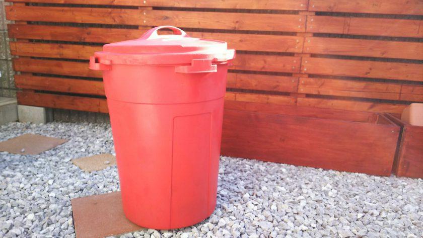 大変身で大満足!カラースプレー塗料で、ゴミ箱をリメイク。〈坂本家〉