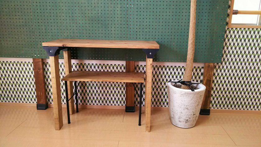 男前な男部屋DIY④「超簡単!ironnaスツール金具を使って、デスク用ベンチ作り」
