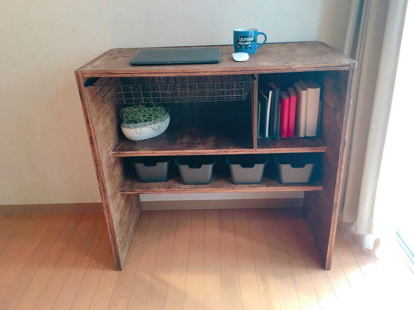 針葉樹合板を使って、収納も工夫したパソコンデスクを作成〈小野家〉