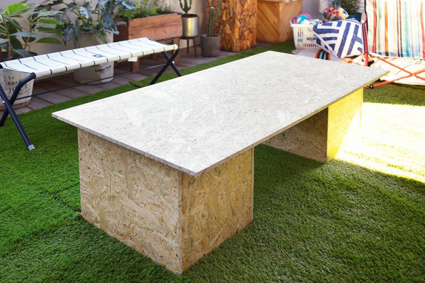簡単!OSB材を使って、収納もできる簡易ローテーブルの作り方