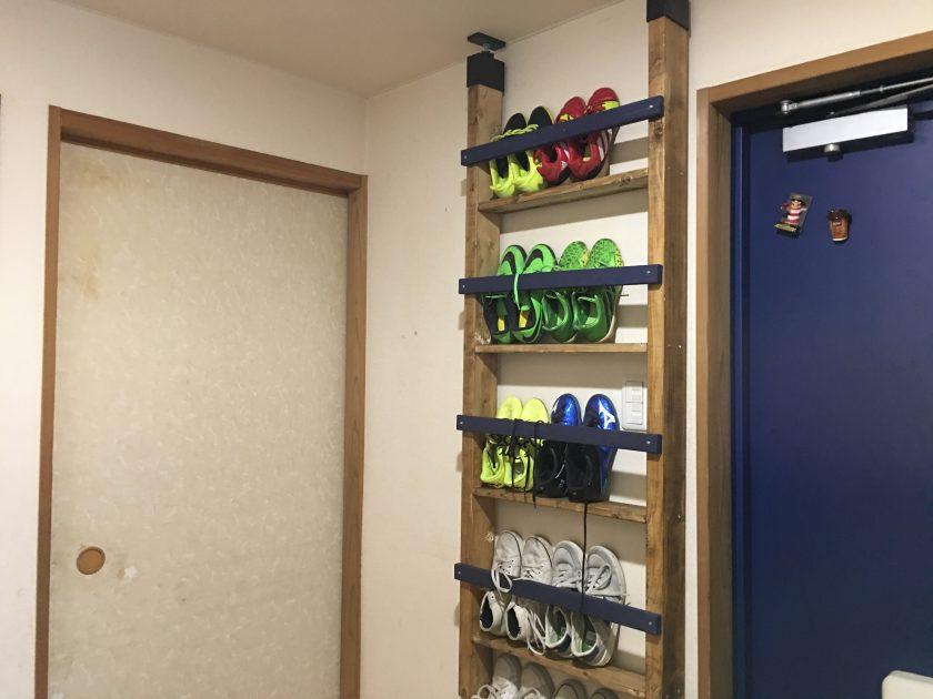 ラブリコを使って、玄関の靴収納を解決!